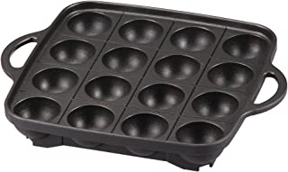 Iwatani Takoyaki Grill Pan , Medium, Black