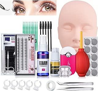 Pro False Eyelashes Extension Practice Exercise Set, Training MakeUp False Eyelashes Extension Glue Tool Practice Kit for Makeup Practice Eye Lashes Graft