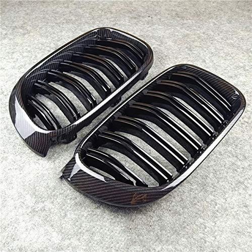 JXSMQC Ein Paar Auto glänzend M Farbe schwarz Frontlufteinlass Nierengitter.Für X3 X4 F25 F26 ABS 20i 28i 35i 2014-2016