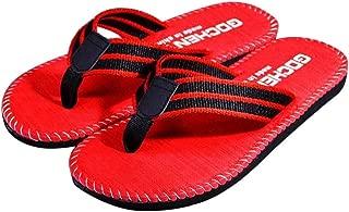 Flip Flops Casual Beach Sandals Male Outdoor Slipper Flip-Flops Shoes4,Red,8.5