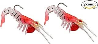 Sinrier 3D Luminous Shrimp Fishing Lure,Soft Shrimp Bait