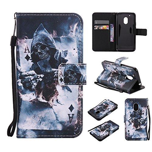 Lomogo Moto G4 Play Hülle Leder, Schutzhülle Brieftasche mit Kartenfach Klappbar Magnetverschluss Stoßfest Kratzfest Handyhülle Case für Motorola Moto G4Play - LOKTU20530#10