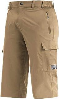 BIYLACLESEN Men's 3/4 Jogger Pants Cargo Pockets Gym Running Below Knee Shorts Capri Jogger Pants Zipper