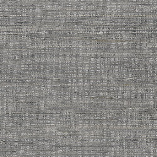 Patton Wallcoverings new488-420 Grasscloth Wallpaper, Silver Grey