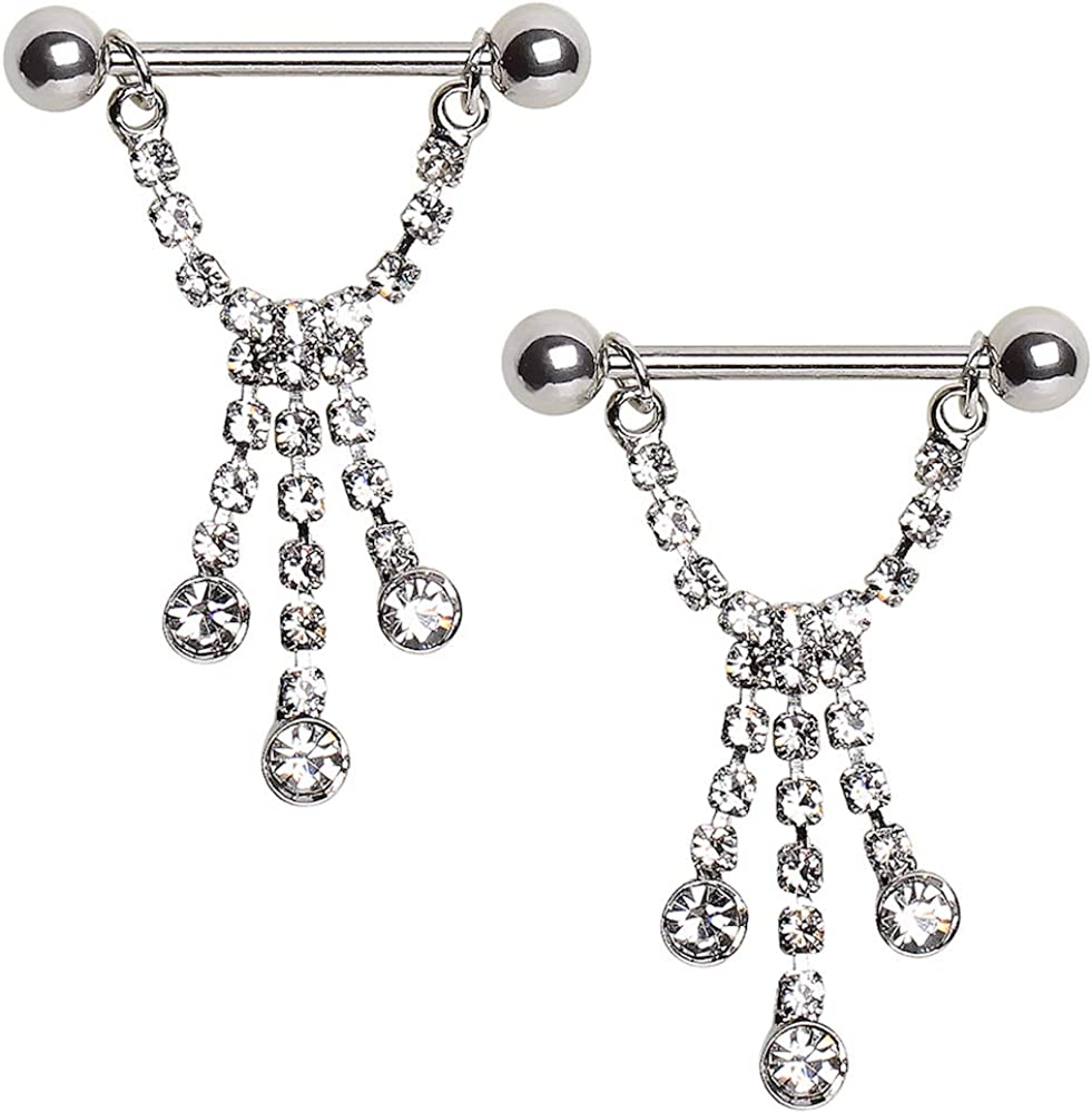 Covet Jewelry 316L Surgical Steel Nipple Ring with Cross