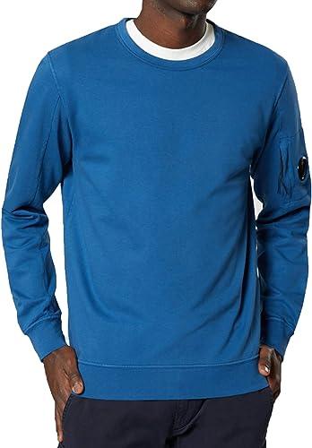 CP Company Arm Lens Logo Crew Sweat Top in bleu