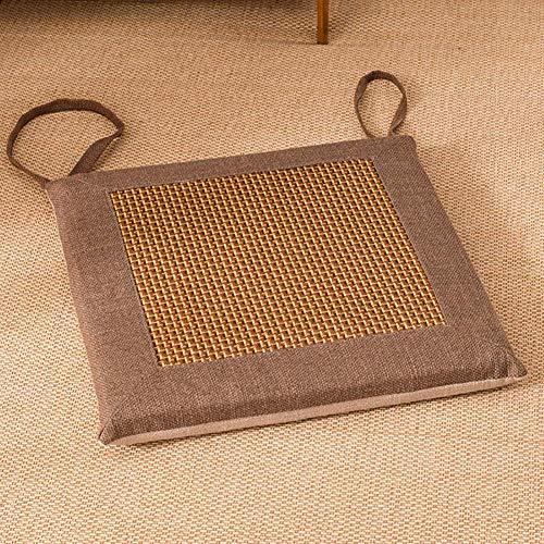 Indoor Outdoor Cushion, Patio Chair Pad With Zipper Detachable Square Soft Breathable Cushion Imitation Vine Sponge Pad-f 40x40cm