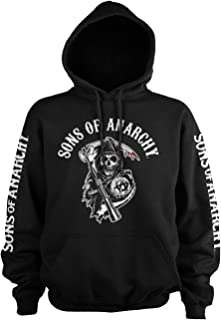 Sons of Anarchy Officially Licensed Logo Big & Tall Hoodie (Black)