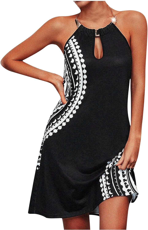 Sinifer Women Summer Sleeveless Halter Neck OFFicial site Swing Tank price Ke Choker