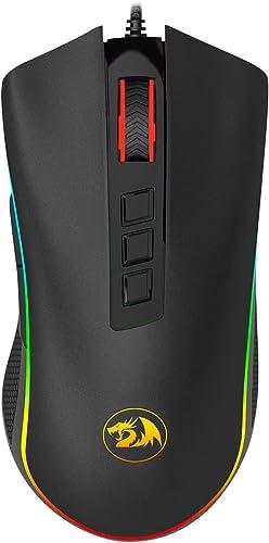 Mouse Gamer Cobra 10000DPI USB 2.0 Preto RGB Redragon - M711