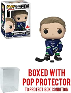 POP! Sports NHL Brock Boeser Vancouver Canucks Canada Exclusive Action Figure (Bundled with Pop Box Protector to Protect Display Box)