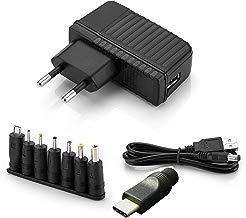 Aukru 5v 2a EU Fuente de alimentación Universal con 9 Conexiones de Enchufe para Varios Dispositivos para Electrodomésticos/Enrutadores/Altavoces/LCD/Camaras de CCTV/TV Box
