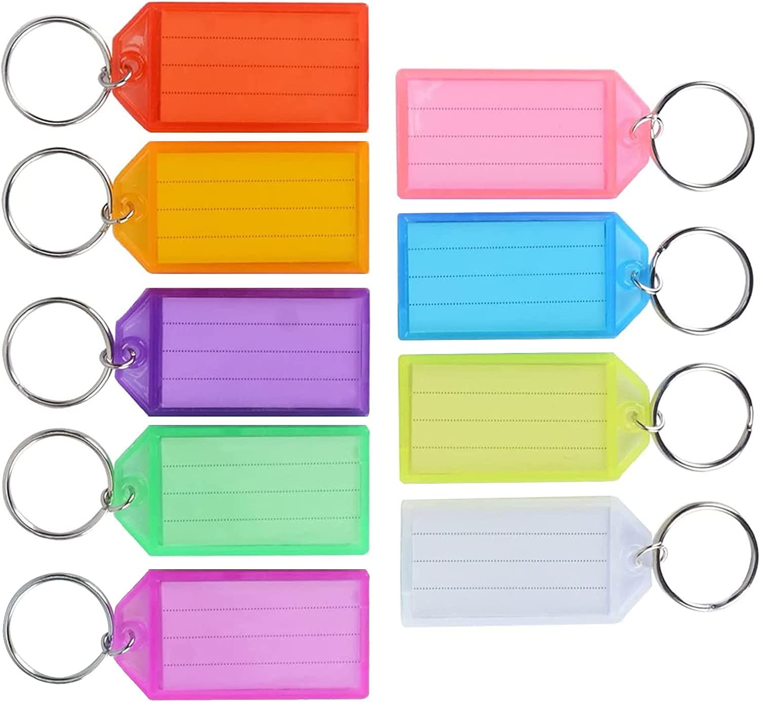 9 Pcs Ranking TOP2 Tough Plastic Key Tags with Label Window Reused Ring Split Colorado Springs Mall