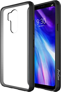 ProCase LG G7 Case/LG G7 ThinQ Case, Slim Hybrid Crystal Clear Cover Protective Case for 6.1 Inches LG G7 2018 -Black
