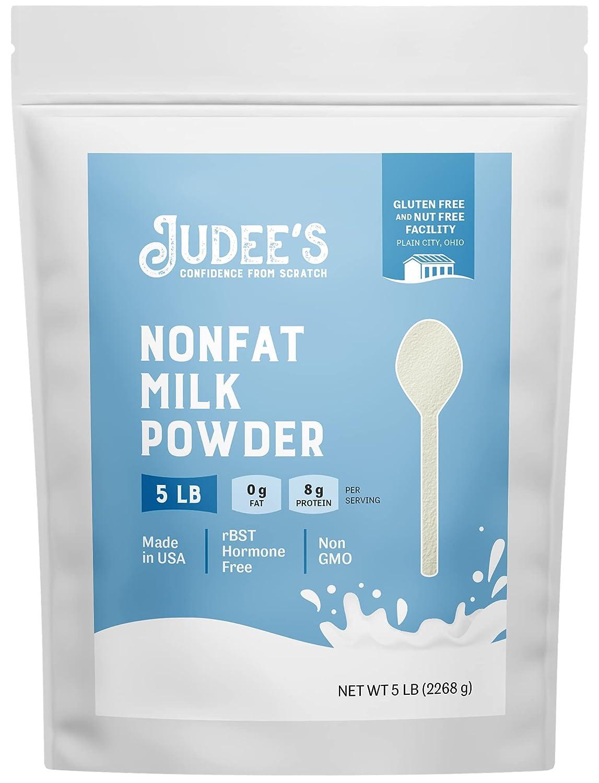 Judee's Non-Fat Milk Max 43% OFF Powder 5lb Keto-Friend - 5% OFF 100% Non-GMO