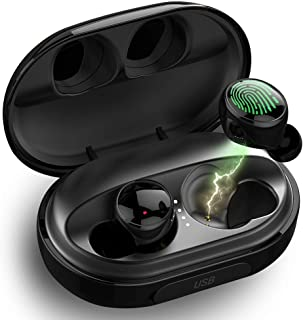 $29 » Wireless Earbuds,Dveda Bluetooth 5.0 C5 True Wireless Earbuds Stereo Sound IPX8 Waterproof Bluetooth Earbuds,120H Playtime with 3500mAh Charging Case,Built-in Mic CVC 8.0 Noise-Cancelling Headset