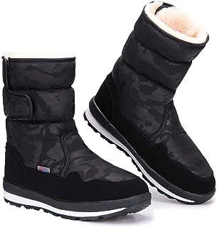 Winter Snow Boots, Neve Impermeabile Antivento Padre-Figlio Scarpe di Cotone, Warm Mid Tubo Anti-Scarponi per La Donna E B...