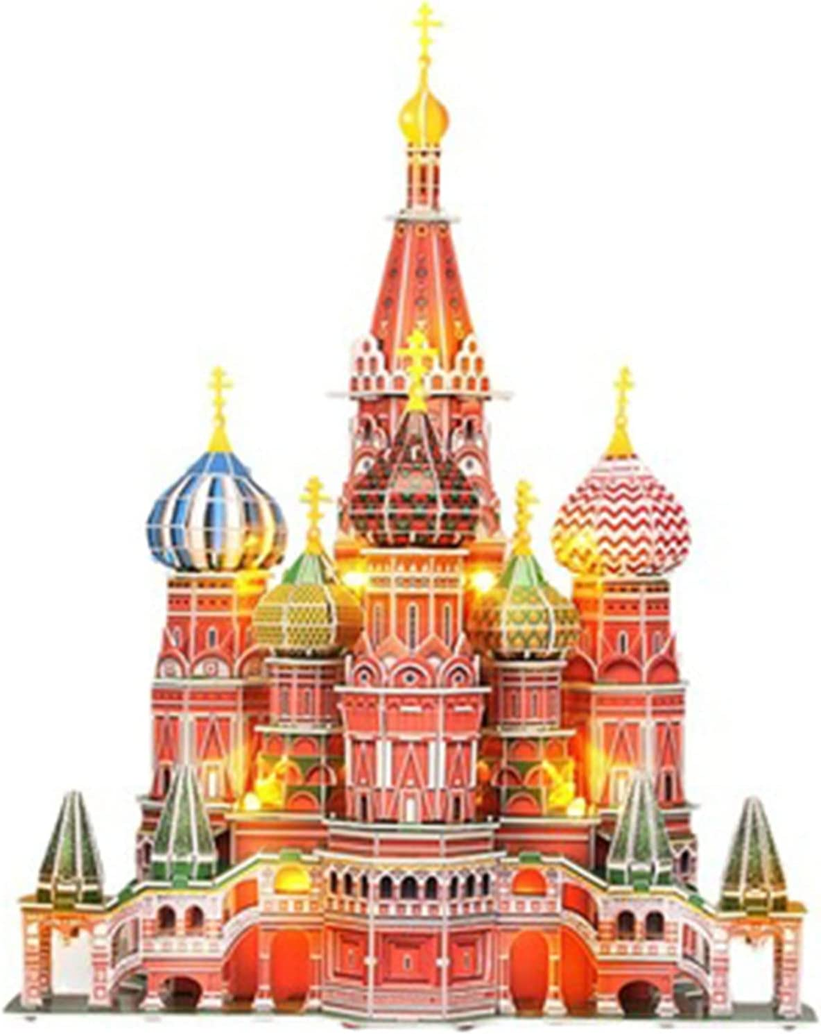 LED Russia Cathedral 3D Puzzles Cath Limited Max 62% OFF time trial price for St.Basil's Kids Adults