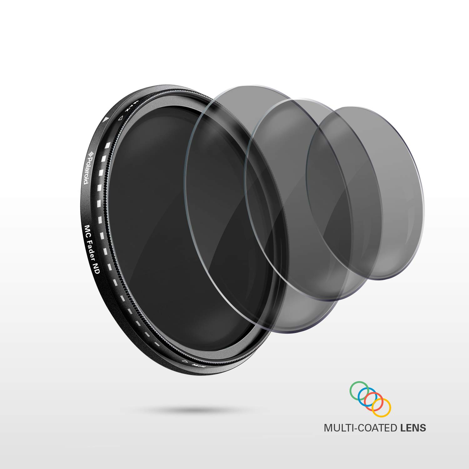 67 mm ND3, ND6 /& ND9 Exposure /& Shutter Control Polaroid Optics Neutral Density Filter kit with Filters for Light