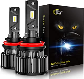 Cougar Motor LED Headlight Bulbs All-in-One Conversion Kit – H11 (H8, H9) -10000Lm..