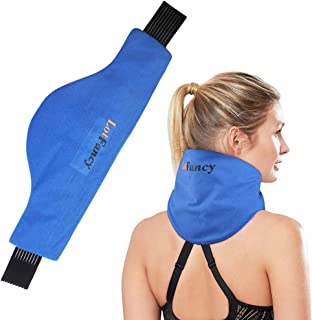 LotFancy Neck Ice Pack Wrap, Hot Cold Therapy for Shoulders, Cervical, Medical Cooling Gel Pack, Treats Pain Arthritis Ten...