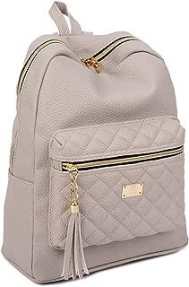 Women's Simple Design Modern Cute Fashion small Casual Backpacks Light Gray