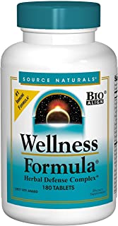 Source Naturals Wellness Formula Bio-Aligned, Echinacea Free Vitamins & Herbal Defense - Immune System Support Supplement & Immunity Booster - 180 Count