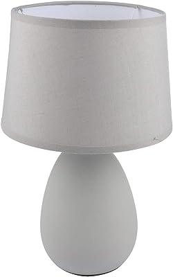 HOMEA 6LCE136GC LAMPE, CERAMIQUE, 40 W, Gris, DIAMETRE20H32.5CM