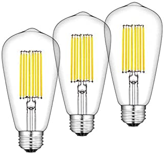 Bonlux 12W ST64 E27 LED Filamento Edison Bombilla De Luz Fría 6000k 1300 Lúmenes Con Bajo Consumo, Larga Duración