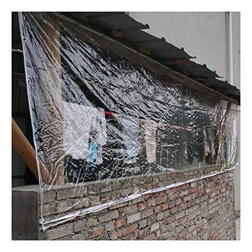 GZHENH Lonas Impermeables Exterior,Impermeable Cloruro De Polivinilo Transparente Lona Exterior para Mesa Y Silla Cubiertas De Pérgola Y Patio Plegable Portátil (Color : Claro, Size : 3x6m)