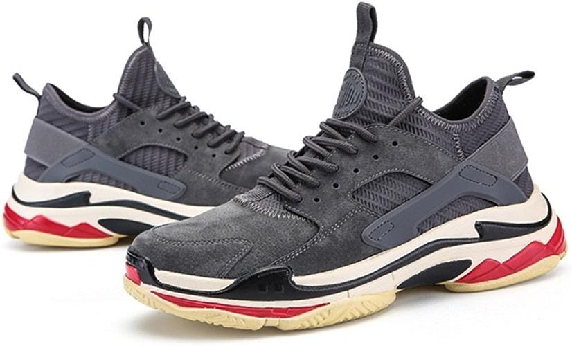 LVZAIXI chaussures Chaussures Pour Hommes Chaussures De Marée Nouveau Version Coréenne Tendance Chaussures douillet ( Couleur   gris , taille   EU40 UK7 CN41 )