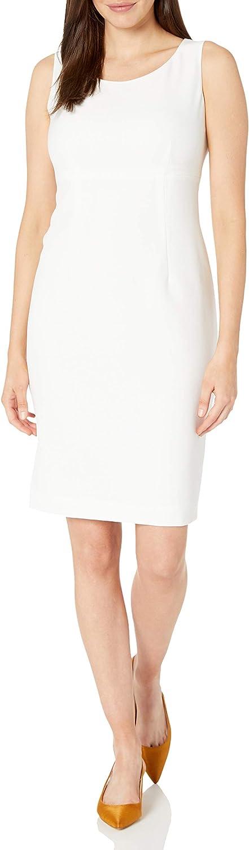 Kasper Women's Stretch Crepe Sleeveless Sheeth Neck Dress
