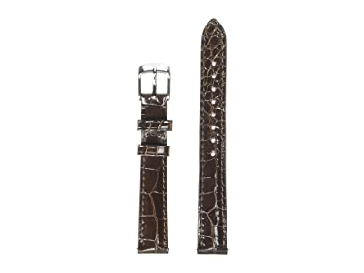 Michele 14 mm Alligator Strap (Brown) Watches