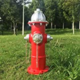 Fake Fire Hydrant for Dogs to Peed on, Dog Fire Hydrant Pee Post, 14.5' Backyard Decor Outdoor Statues Firefighter Gifts for Men (14.5')