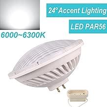 LeMeng Par56 LED Bulb Dimmable 28W Warm White Spot Light 2700-3000K NSP 24/°Beam Angle GX16D Base Replace Par 56 300W Halogen Light AC120V