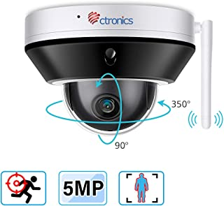 Ctronics 防犯カメラ Wifi 500万画素 ヒューマン検知 監視カメラ 屋外 SONYセンサー採用 夜でも驚くほどはっきり 動体検知音声録画 初心者でも簡単設定 どこでも遠隔操作 128G Mirco SDカード対応(付いてません) 日本語アプリ 説明書 二年品質保証