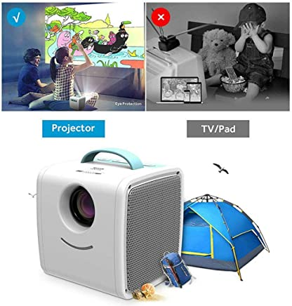 $279 Get IEnkidu Mini Projector Portable LED LCD Projector, Full HD 1080P Supported, Compatible with PC Mac TV DVD iPhone iPad USB SD AV HDMI, Home Theater & Outdoor Projector Gifts for Kids