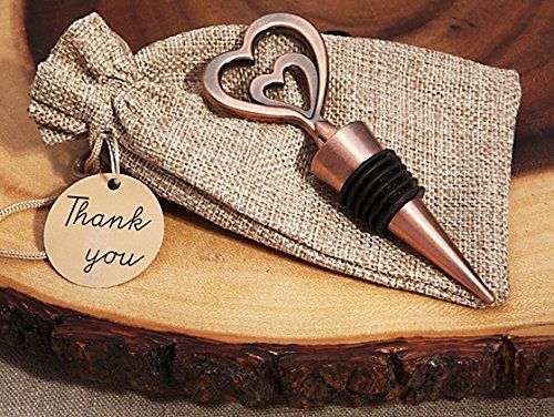 Cassiani Collection Copper Vintage Two Hearts Become One Bottle Stopper (25)
