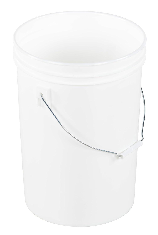 Over item handling Vestil PAIL-6-PWS Plastic Open Head Pail with ga Steel Max 53% OFF 6 Handle