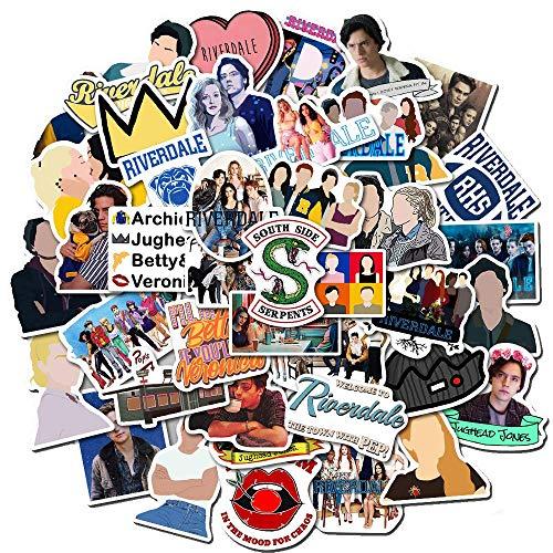 50 Piezas TV Show Funny Stickers Pack Fans Anime Vintage Paster Cosplay Scrapbooking DIY Pegatina teléfono portátil Impermeable