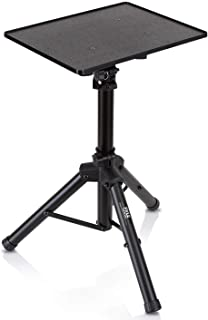 Pyle Laptop Projector Stand, Heavy Duty Tripod Height Adjustable 16'' to 28' for DJ Presentations Notebook Computer