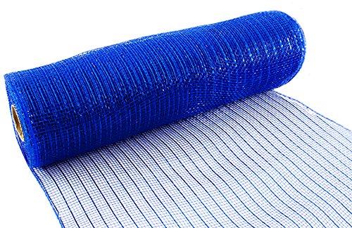 Eleganza Royal Nr. 18Metallic Deco Mesh, blau, 25cm x 9,1m