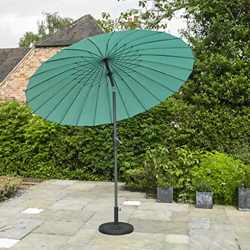 Kingfisher Turquoise 2.6m x 2.6m Aluminium Shanghai Parasol with Crank and Tilt Outdoor Garden Patio Furniture
