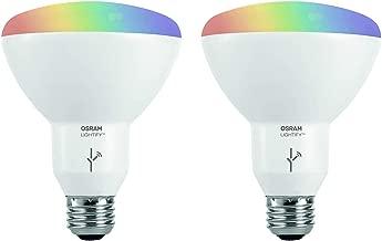 2 LED BR30 Bulbs Sylvania Lightify Kit with 1 Gateway 2 Pack 1 LED A19 Bulb