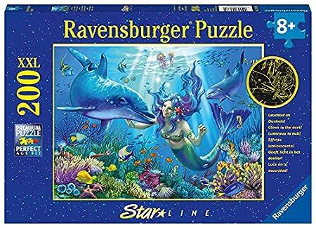 Ravensburger Kinderpuzzle - Leuchtendes Unterwasserparadies 200 Teile XXL