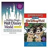 Hidden magic of walt disney world and birnbaum's 2018 walt disney world the official guide 2 books collection set