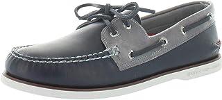 Sperry Chaussures bateau à œillets pour homme Gold a/O 2, Bleu (Bleu marine/gris.), 41 EU