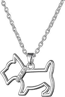Fashion Adorable Dog Series Scottie Dachshund Sitting Dog Animal Link Chain Necklace