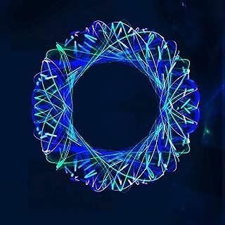 GloFX Aquamarine 6-LED Team Orbit - Lights Spinning Lightshow Orbital Toy Rave Light