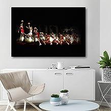 Cartel de baloncesto Michael Jordan The legend Wallpaper vintage Picture Canvas Print para Home Room Decor/60x90cm-Sin marco